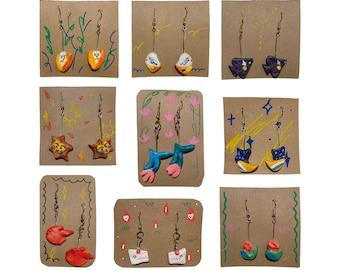 Cheery Clay Earrings | Cute Earrings | Unique Design | Handmade Jewelry