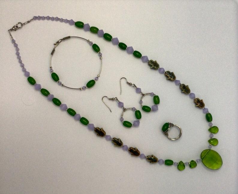 Hamsa Beaded Necklace 4pc Set