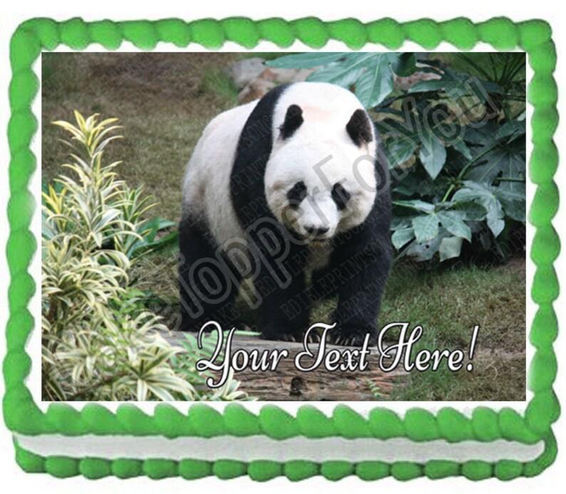 Beautiful Panda Bear Edible Cake or Cupcake Topper