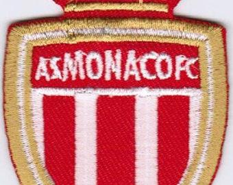 Patch fusible applique banner Monaco coat of arms