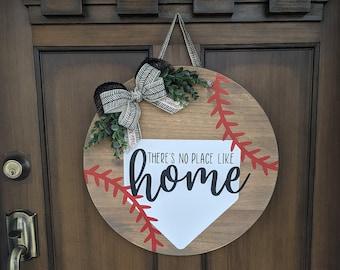 Door Hanger Door Decor Round Door Hanger Summer Door Decor Door Sign Baseball Door Hanger Summer Door Hanger