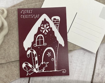 "Postcard ""Gingerbread House"""
