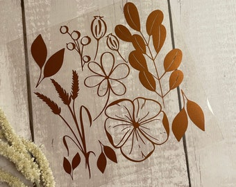 "Mix&Plott ""florals"" - foil cut for ironing"