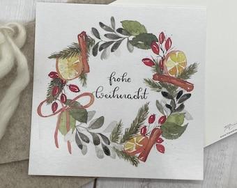 "Postcard ""Christmas wreath"""