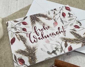 """Postcard / Greeting Card """"Rose hips"""""""