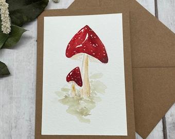 "Greeting card ""Happiness Mushroom"""