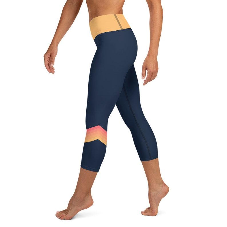 Yoga Capri Leggings  High Waist  Key Pocket