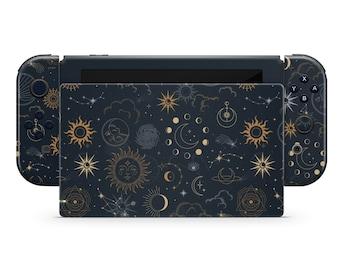 Constellation Stargazing Night Sky Nintendo Switch Skin, Space Cosmos Galaxy Astrology Console Joycon Vinyl Wrap Sticker, Custom Switch Skin