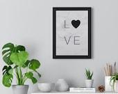 Marble Love Wall Art - Framed Wall Art - Home Decor - Poster - Fashion Decor