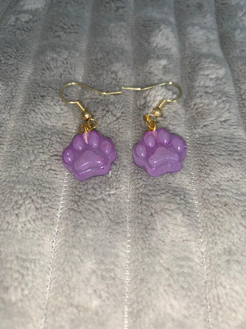 Resin Paw Earrings