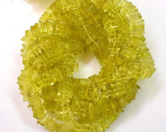 approximately 5 mm Natural Gemstone Beads Flat Coin Beads Lemon Quartz Round Heishi Beads