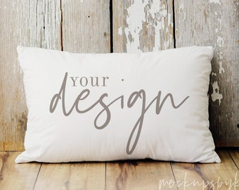 Rustic Pillow Mockup, White pillow mockup, pillow mockup, pillow stock photo, styled pillow photo, blank pillow mockup, instant download