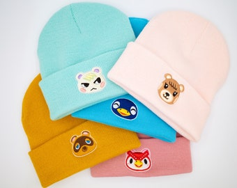 ACNH inspired premium Beanie with your favourite character