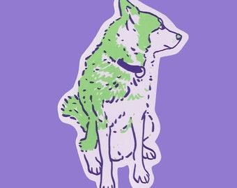 Doggy Sticker Silkscreen printed