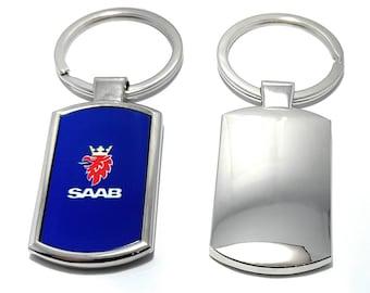 Saab 900 Keyring Keychain Emblem Turbo Convertible 2.0 2.3 Aero EP CD S B204L B234L V6 B201 B202 99 Stainless Steel