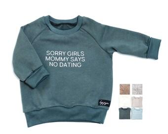 """Sweater """"NO DATING"""" Baby Child Organic"""