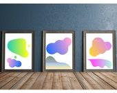 Printable Wall Art, Abstract Wall Art, Rainbow Wall Art, Modern Wall Art, 8x10 Art