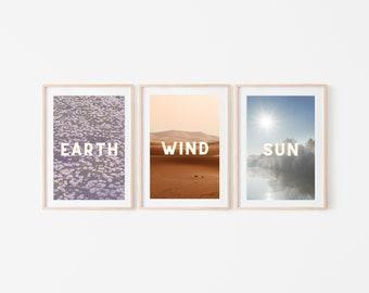 Printable Wall Art, Sustainability Wall Art, Earth Wall Art, Elements Wall Art, Green Printable Art, 8x10 Art
