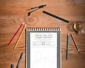 Choose Your Own Adventure Interior Design Coloring Pages (5) Printable 8.5'' x 11'' Business Scenes