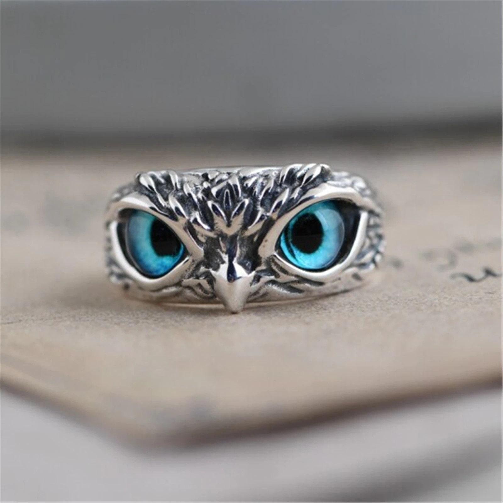 Adjustable Eye Owl Ring, Vintage Cute Design Owl Ring, Bird Lover Jewellery, Bird Ring, Fashion Ring, Women's jewelry, Wonderful Gift