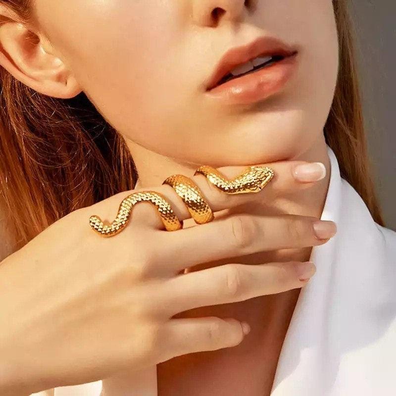 Snake Ring, Huge Snake Ring, Gold Snake Ring, Silver Ring, Gothic Ring, Gift For Her