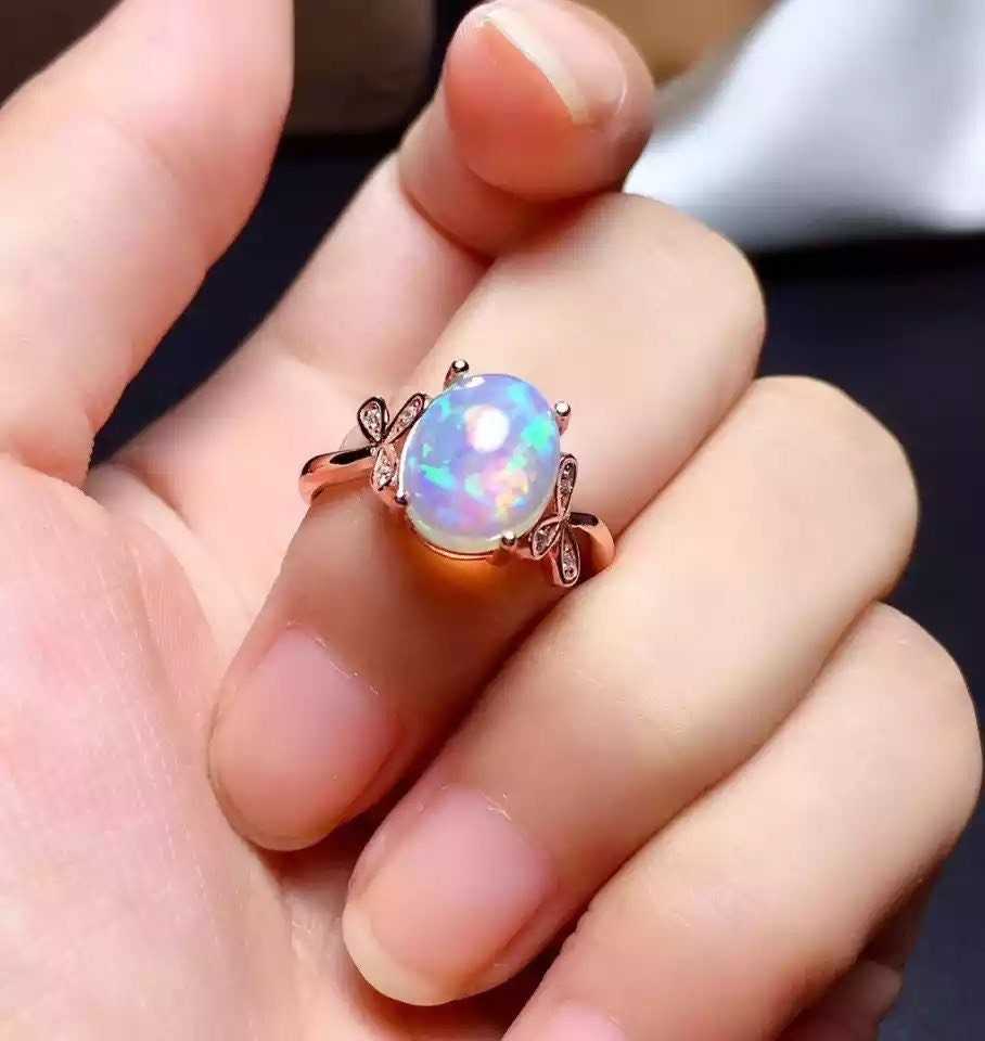 Gold Opal Ring, Opal Ring, Gold Ring, Delicate Gold Ring, Gift For Her, Stacking Ring, Stacking Opal Ring, Gold Filled Ring