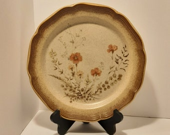On Sale Mikasa Whole Wheat Rose Duet Stoneware 10.75 inch ChopDinner Plate E 8018 Made in Japan Replacement Dish