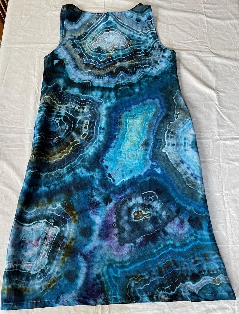 festival dress ice dye dress Ladies S linen dress tie dye dress boho dress hippie dress