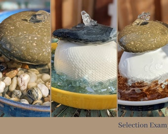Natural Rock Tabletop Water Fountain   Customized Water Fountain Gift   Riverfront Loop