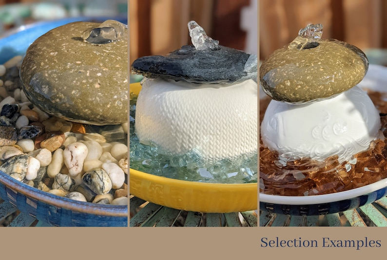 Natural Rock Tabletop Water Fountain  Customized Water image 1