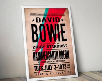 David Bowie concert poster. Re worked concert poster
