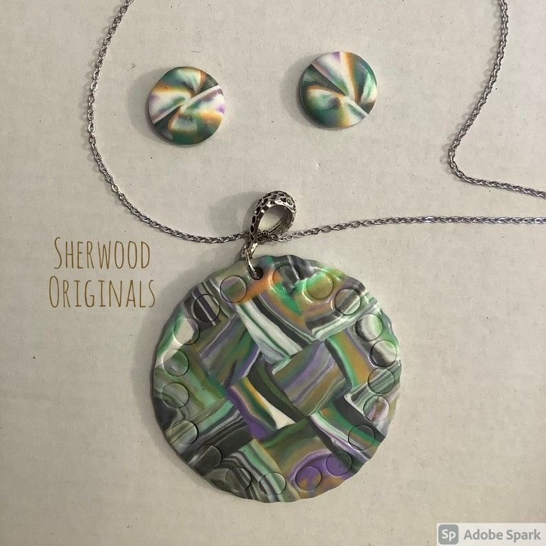 unique earring and pendant set Necklace /& Earrings set Handmade in Sherwood Forest and designed to make a statement Large Gift box inc
