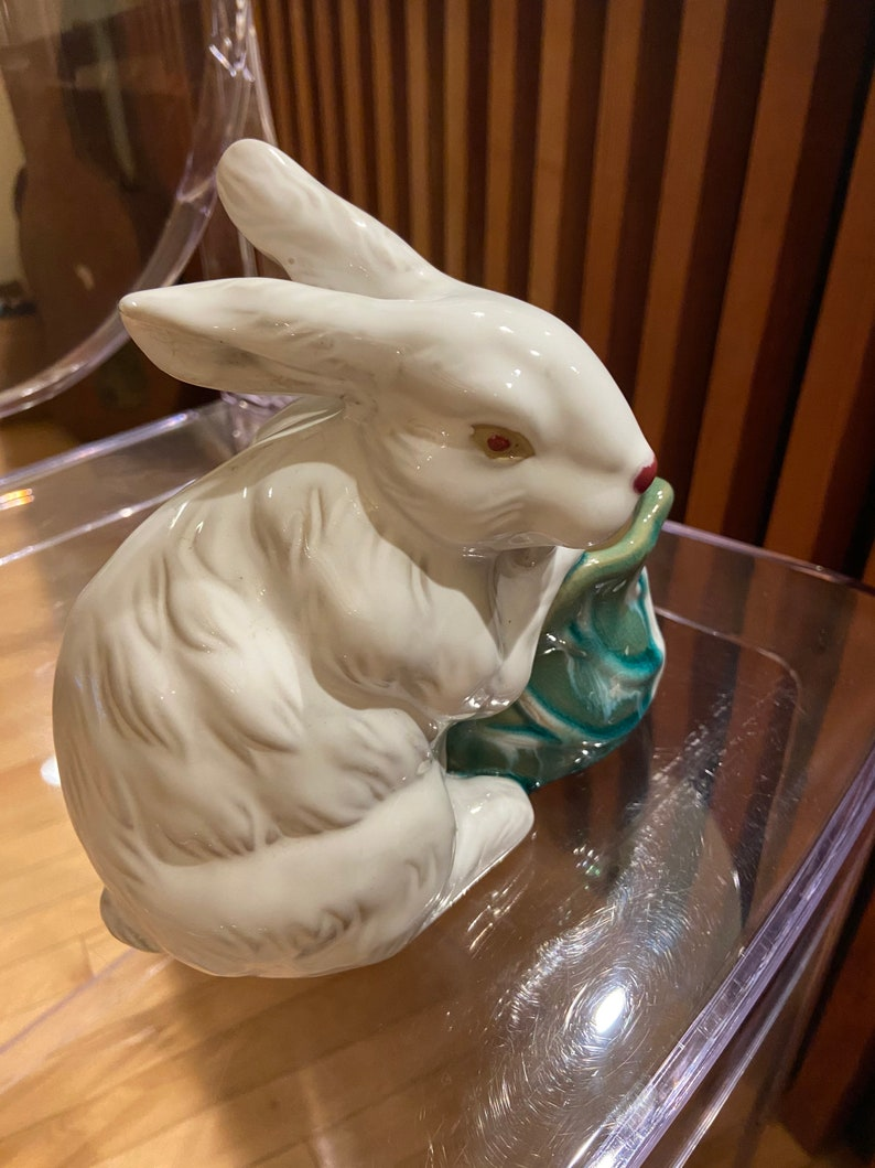 Ceramic Bunny Cachepot