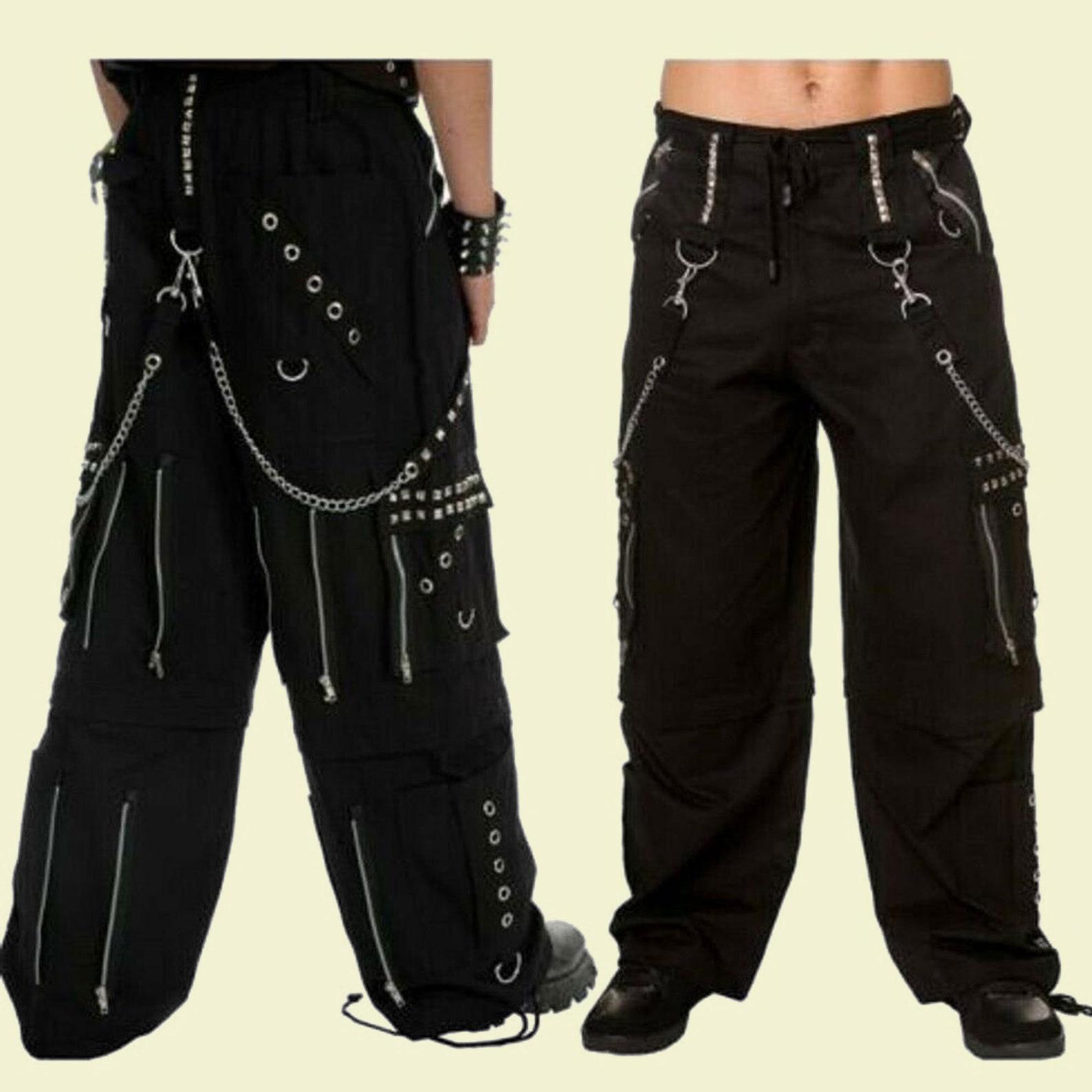 Women's Gothic Bondage Pant Rock Hard Trouser Heavy Weight Pant Emo Tripp Pants