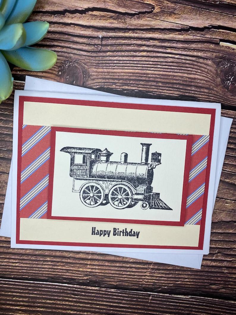 Card for Him Birthday Card for Boys Birthday Card for Him Cute Train Card Male Birthday Card Train Birthday Card Husband Birthday Card