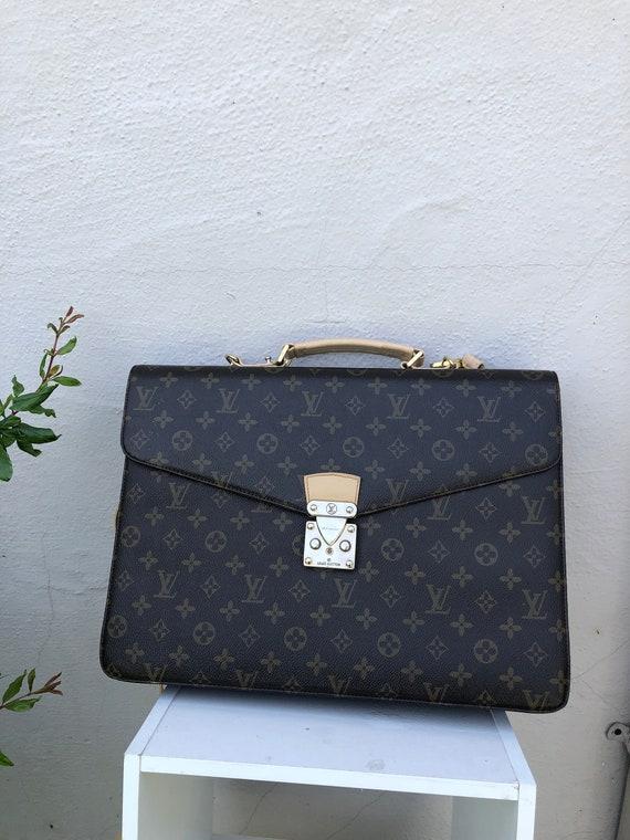 Large Vintage Louis Vuitton Briefcase Documents