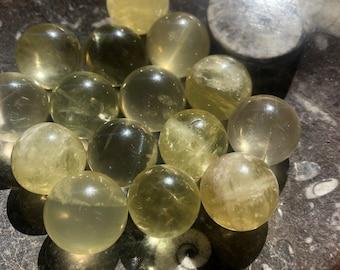 Medium Green Citrine Sphere
