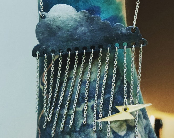 """Featured listing image: The """"Cumulus"""" Pendant Necklace by Polychrome Creations"""