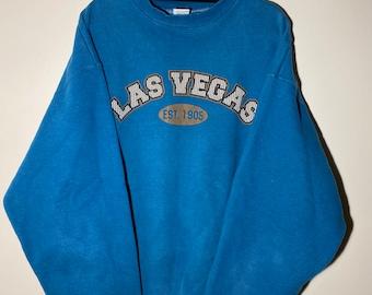 Vintage Las Vegas Sweatshirt Women/'s 1X Plus Size Crewneck Oversize Cotton Pullover Shirt Souvenir Gift Tourism Travel Trip Vacation Tourist