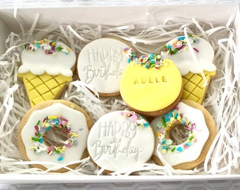 Birthday Cookies with Ice Cream and Donuts