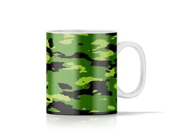 11oz Green Army Camo Mug