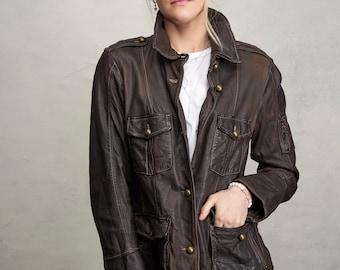 Vintage leather jacket women's
