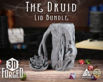 The Druid Lid Bundle || Mythic Mugs - Can Holder/Stubby Holder/Koozie for Tabeltop Gaming, RPG, DND, Dungeons And Dragons & Warhammer