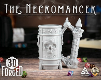 The Necromancer || Mythic Mugs - Can Holder/Stubby Holder/Koozie for Tabletop Gaming, RPG, DND, Dungeons And Dragons, Pathfinder & Warhammer