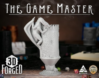 The Game Master || Mythic Mugs - Can Holder/Stubby Holder/Koozie for Tabletop Gaming, RPG, DND, Dungeons And Dragons, Pathfinder & Warhammer