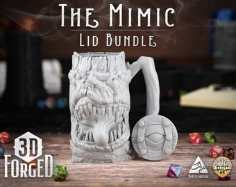 The Mimic Lid Bundle || Mythic Mugs - Can Holder/Stubby Holder/Koozie for Tabeltop Gaming, RPG, DND, Dungeons And Dragons & Warhammer