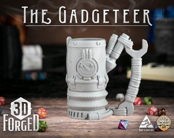 The Gadgeteer || Mythic Mugs - Can Holder/Stubby Holder/Koozie for Tabletop Gaming, RPG, DND, Dungeons And Dragons, Pathfinder & Warhammer