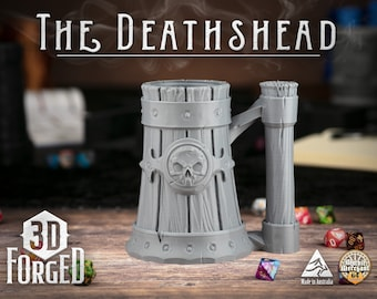 The Deathshead Draught || Mythic Mugs - Can Holder/Stubby Holder/Koozie for Tabletop Gaming, RPG, DND, Dungeons And Dragons & Warhammer