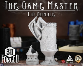 The Game Master Lid Bundle || Mythic Mugs - Can Holder/Stubby Holder/Koozie for Tabeltop Gaming, RPG, DND, Dungeons And Dragons & Warhammer