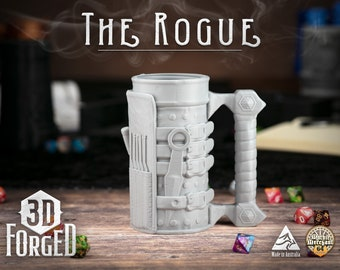 The Rogue || Mythic Mugs - Can Holder/Stubby Holder/Koozie for Tabletop Gaming, RPG, DND, Dungeons And Dragons, Pathfinder & Warhammer